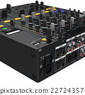Rear table panel contacts dj mixers, zoomed view 22724357