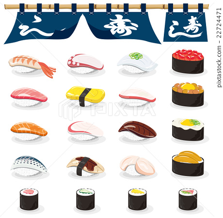 sushi, icon, icons 22724471