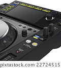 Dj turntable mixer, close view  22724515