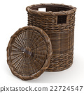 Empty wicker basket 22724547