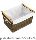 Empty wicker basket square shape 22724574