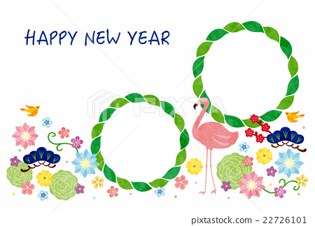 new year's card, new years card template, frame 22726101