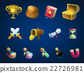 Set items for game user interface Atlantis ruins 22726981
