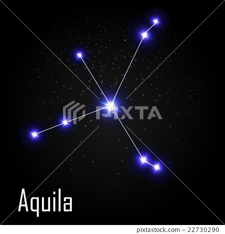 Aquila Constellation with Beautiful Bright Stars 22730290