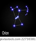 Orion Constellation with Beautiful Bright Stars on 22730381
