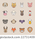 animal face set 22731409