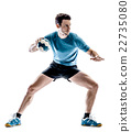 man handball player isolated 22735080