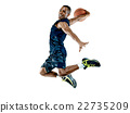 basketball player  man Isolated  22735209