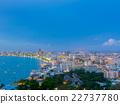 City of life at pattaya beach,Twilight scene. 22737780