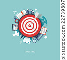 Flat illustration of targeting and time management 22739807
