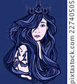 vector,princess,lady 22740505