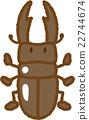 鍬形蟲 鋤頭形頭盔 昆蟲 22744674