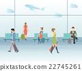 Airport terminal hall. 22745261