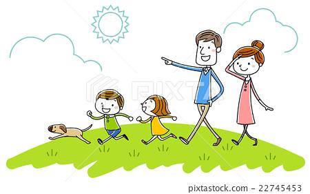 插圖素材:家庭野餐 22745453
