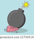 cartoon liver with bomb 22749416