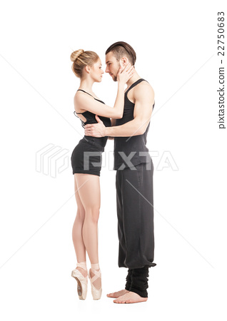 Ballet couple hugging 22750683