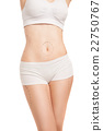 Unrecognizable woman in underwear with liposuction 22750767