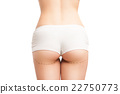 Back view of woman in panties with outlines on 22750773