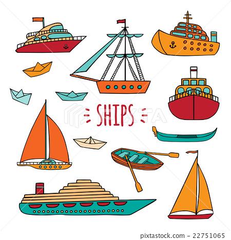 Large set of marine vessels. 22751065