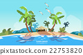 Tropical Beach Island Palm Tree Ocean Summer 22753820