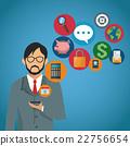 mobile man social 22756654