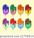 color ice cream set 22756914