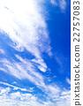 藍天天空雲彩初夏天空背景材料6月 22757083