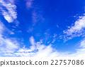 藍天天空雲彩初夏天空背景材料6月 22757086