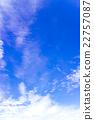 藍天天空雲彩初夏天空背景材料6月 22757087