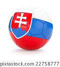 Soccer football ball with Slovakia flag 22758777