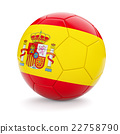 Soccer football ball with Spain flag 22758790