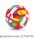 Soccer football ball with Europe countries flags 22758791