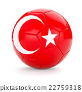Soccer football ball with Turkey flag 22759318