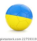 Soccer football ball with Ukraine flag 22759319