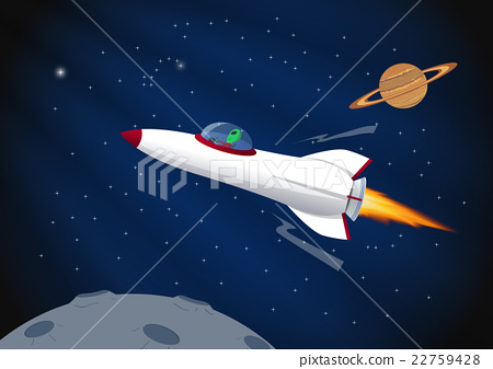 Cartoon space background 22759428