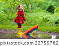 umbrella, girl, puddle 22759762