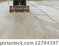 水稻 稻田 拖拉機 22764397