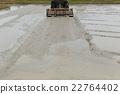水稻 稻田 拖拉機 22764402