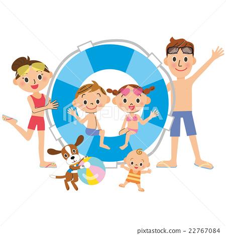 暑假 家庭 家族 22767084