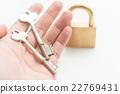 手 鎖 鎖匙 22769431