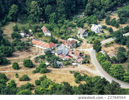 The little village surrounded by forests in Slovak republic 22769564