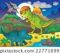 Night landscape with dinosaur theme 4 22771699