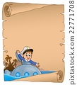 Stylized parchment with submarine theme 22771708