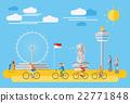 Flat design, Singapore landmarks and icons 22771848