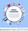 Medical background template. Vector 22772316