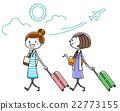 일러스트 소재 : 여성 여행 22773155
