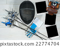 Fencing - Old Camera and Photo Frames 22774704