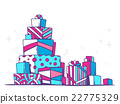 Vector illustration of large pile of gifts stand 22775329
