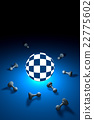 Space and time (chess metaphor). 3D illustration. 22775602