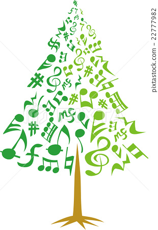 Musical note tree 22777982